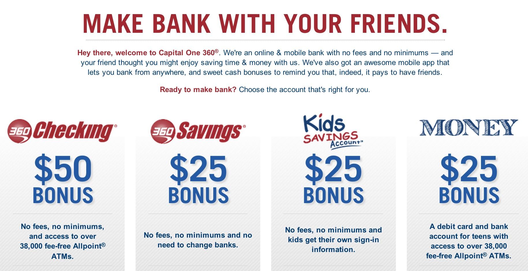 Capital One 360 — Bonus Cash – Bargain Lee